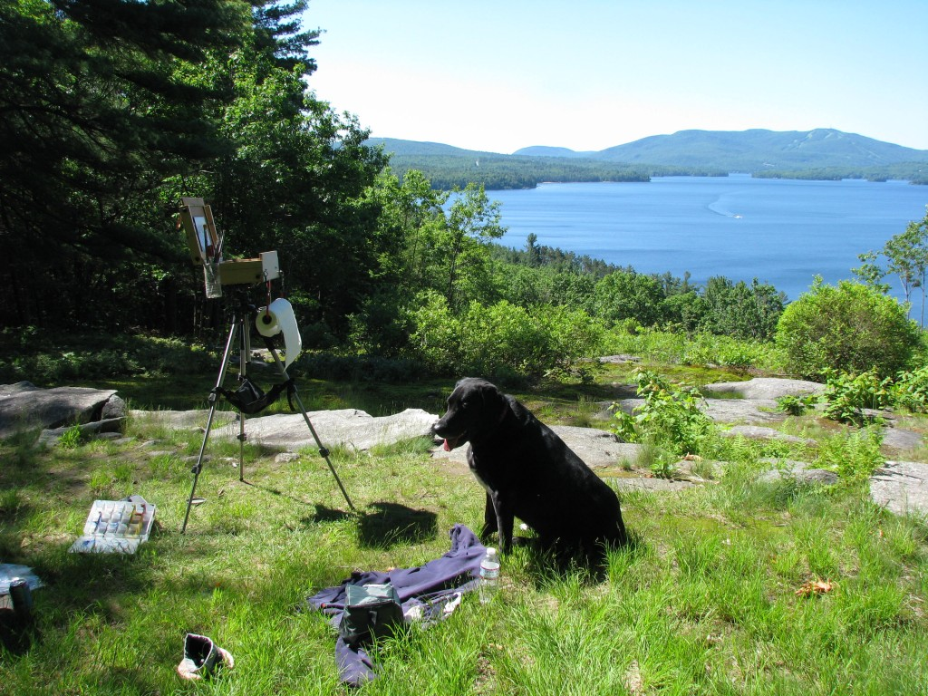 Painting Overlooking Lake Sunapee