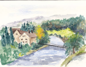 water color sketch from trip