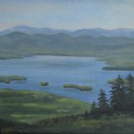 View From Above Mt. Sunapee Oil on canvas