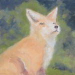 Fox oil on panel