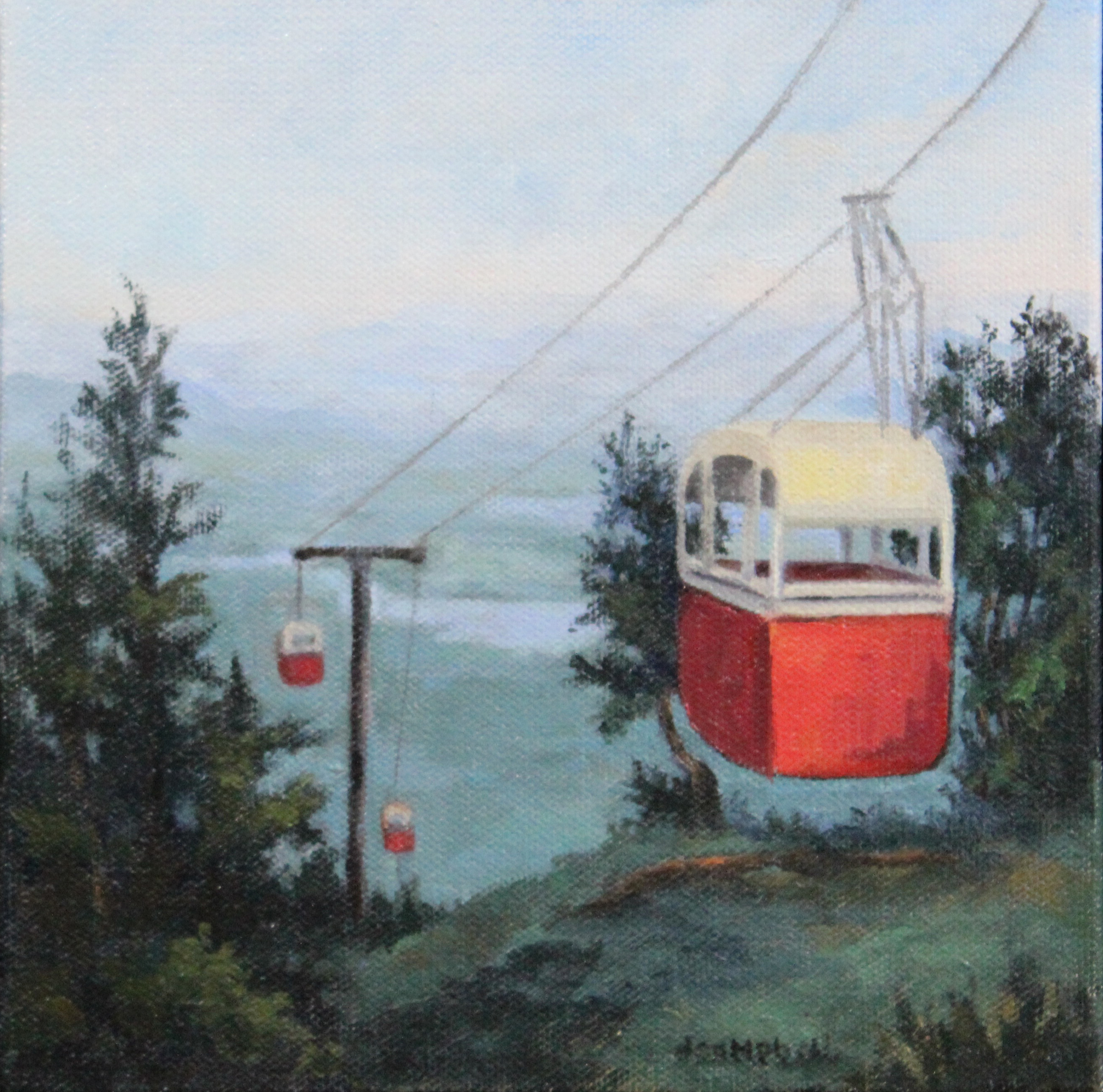 Circa 1960 gondola on Mt. Sunapee
