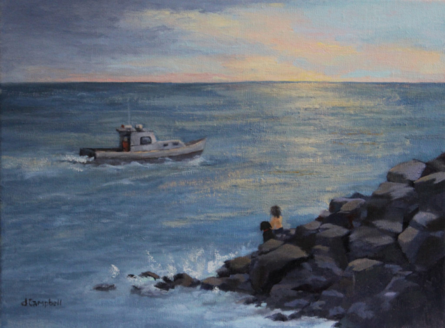 Fisherman heading out, Monhegan Ishalnd, Maine