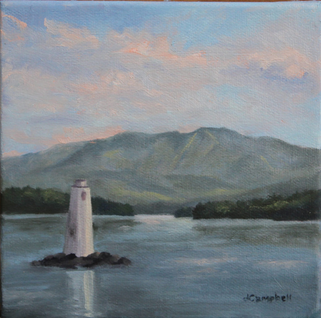 Lake Sunapee and Loon Lighthouse