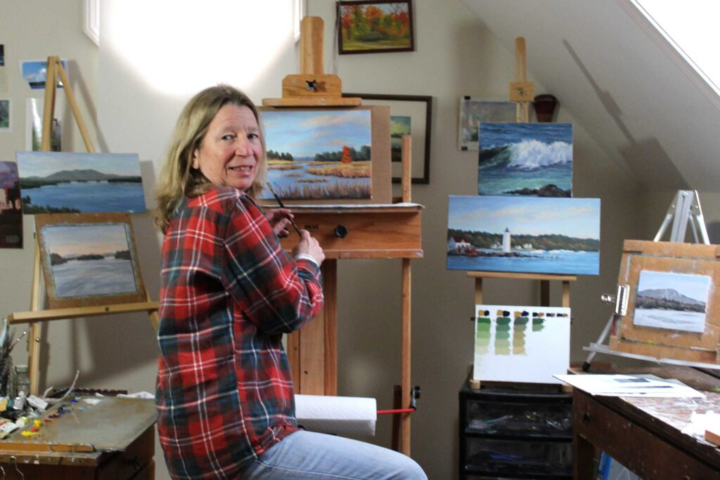 Debbie Campbell in her studio